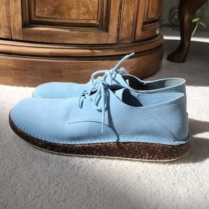 Birkenstock Blue Suede Shoes Sz 41 Worn 1x 💙 RARE
